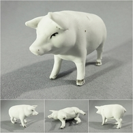~ COCHON BLANC EN  BISCUIT - Porc Porcherie Charcuterie Animal - Sculptures