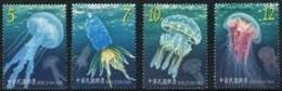 2015 Marine Life- Jellyfish Stamps Sea Jelly Fish Fluorescent Ink Unusual - W.W.F.