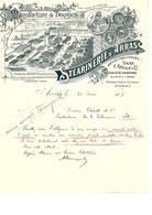 Facture Manufacture De Bougie Stéarinerie D'Arras à Arras En 1907 - France