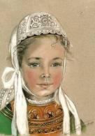 CPM - ILLUSTRATION Marie Claude MONCHAUX - Petite Fille De PENMARC'H - Bretagne