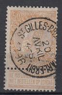 BELGIË - OPB - 1893/00 - Nr 62 (ST. GILLIS - BRUX. (CH. DE CHARLEOY)) - 1893-1900 Fine Barbe
