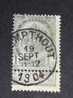 COB N ° 53 Oblitération Calmpthout 1904 - 1893-1900 Fine Barbe