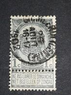 COB N ° 53 Oblitération Charleroi (Centre) 1902 - 1893-1900 Fine Barbe