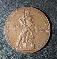"""WW1 - Jeton """"Ligue Des Patriotes - 1870 - 18.. - Qui Vive ? France - Souviens-toi - L.D.P. - Paul Déroulède - WWI - Francia"""