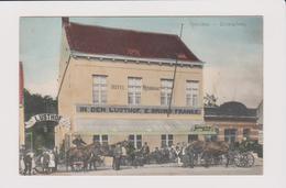 Hoboken -prachtige Kleurkaart Heel Zeldzaam Van Café Restaurant In Den Lusthof En Van Bruno Franke Animatie 1908 Dorpspl - Antwerpen