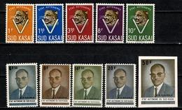 Sud Kasaï 1961 - 20/24**, 25/28**, 29** MNH - South-Kasaï