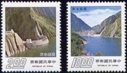 1975 Teki Reservoir Stamps Irrigation Dam Hydraulic Power Taiwan Scenery Tourism - History
