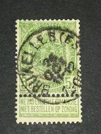 COB N ° 56 Oblitération Bruxelles (Est) - 1893-1900 Fine Barbe