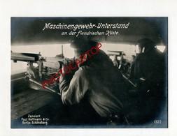 Mitrailleuse-Maschinengewehr-ABRIS-Flandern Küste-Grosse CP PHOTO All.-Guerre 14-18-1WK-BELGIEN-Militaria-Paul HOFFMANN- - Belgique