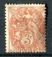 FRANCE ( POSTE ) Y&T  N°  109  TIMBRE  NEUF  AVEC  TRACE  DE  CHARNIERE , CLAIR  DE  CHARNIERE  . - 1900-29 Blanc