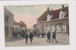 Hoboken - Kapelstraat Prachtige Kleurkaart Gelopen 1912 Veel Animatie Café,coiffeur Enz.. - Antwerpen