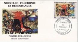 FDC Nouvelle Calédonie 1984  Peintres Du Pacifique. - FDC