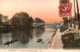 92 ASNIERES LA SEINE ET LE PONT DE CLICHY - Asnieres Sur Seine