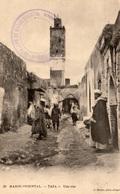 TAZA (Maroc-Oriental) - Une Rue - Photographe Geiser - Cpa Animée Et En Très Bon état - 2 Scans - Maroc