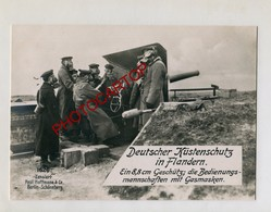 CANON-Flandern Küste-Masque A Gaz-Gasmasken-Artillerie-Grosse CP PHOTO All.-Guerre 14-18-1WK-Militaria-Paul HOFFMANN- - Belgique
