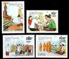 LAOS [1992] MiNr 1333-36 ( **/mnh ) Religion - Laos