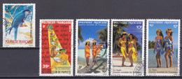 Polynésie Faune Oiseaux 30e Anniversaire De La Création Du Lions Club Tourisme Paréo N°361-362-365 à 367 Oblitéré - Polynésie Française
