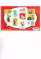 BELGIQUE: Les Principaux Personnages De La B.D. Belge Sur Bloc Neuf. - Comics