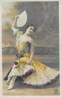 Fantaisie: Femme En Danseuse Espagnole Avec éventail - Carte Croissant Paris N° 3952 Non Circulée - Femmes