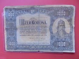HONGRIE 1000 KORONA 1920 CIRCULER - Hongrie