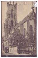 FRIBOURG - AU DOS: PUBLICITE BONBONS AUX BOURGONS DE SAPINS DE HENRI ROSSIER, LAUSANNE - TB - FR Fribourg