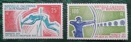 NOUVELLE CALEDONIE - YT Aérien N°122, 123 - Jeux Sportifs Du Pacifique Sud / Sport - 1971 - Neufs - Poste Aérienne