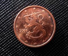 2006  Finland  1  Euro Cent EIRO LION CIRCULATED COIN - Finlande