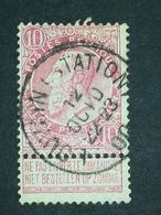 COB N ° 58 Oblitération Louvain (Station) 00 - 1893-1900 Fine Barbe