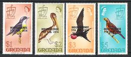 Grenada 1974 Definitives Overprinted INDEPENDENCE $1 To $5 MNH CV £33 - Grenada (1974-...)
