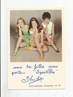 """SHEILA CARTE PUBLICITAIRE SANDAL'MOD """"SPARTILLES"""" - Chanteurs & Musiciens"""