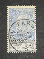 COB N ° 60 Oblitération Farciennes 1897 - 1893-1900 Fine Barbe