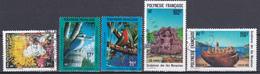 Polynésie Merveilles Sous-marines Faune Oiseaux Scultures N°376-383-384-387-388 Oblitéré - Polynésie Française