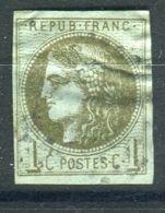 FRANCE ( POSTE ) Y&T  N°  39A OU 39B OU 39C ?  TIMBRE  TRES  BIEN  OBLITERE . - 1870 Siege Of Paris