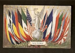 Victory - Drapeaux Des Pays Vainqueurs De La Guerre 14-18 - Carte Tuck - Circulé En 1920 - War 1914-18