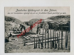 Flandern Küste-TOMBES-Position-Dunes-Grosse CP PHOTO All.-Guerre 14-18-1WK-Militaria-Paul HOFFMANN - Belgique