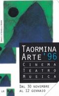 SCHEDA TELEFONICA  TAORMINA ARTE 96  SCADENZA 31/12/1998 USATA - Italia