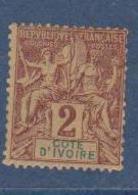 COTE D'IVOIRE                N° YVERT  :  2     NEUF SANS GOMME        ( SG     1/20  ) - Côte-d'Ivoire (1892-1944)