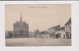Hoboken - Mooie Kaart Place Communale  Met Café In De Raap Gelopen 1911 Uitg.vertongen - Antwerpen