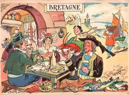 CPSM - ILLUSTRATION Jacques LIOZU - Thème BRETAGNE - Bretagne