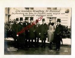 RATES Für Flandern-Politique-Grosse CP PHOTO All.-Guerre 14-18-1WK-Militaria-Paul HOFFMANN- - Evènements