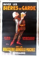 AFFICHE ORIGINALE DE 1930 - *** BUVEZ LES BIERES DE GARDE *** Par LE CLERCQ  - BRASSERIE MOCHEZ ONNAING - BIERE - BEER - Affiches