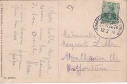 ALLEMAGNE 1914 CARTE POSTALE DE HÖLENTAL CACHET FERROVIAIRE/ZUGSTEMPEL FREIBURG-DONAUESCHINGEN - Allemagne