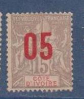 COTE D'IVOIRE                N° YVERT  :    36     NEUF SANS GOMME        ( SG     1/20  ) - Côte-d'Ivoire (1892-1944)