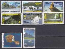 Polynésie La Peche Aux Cailloux Acivités Touristiques Année Internationale De L Espace N°390-399 à 405 Oblitéré - Polynésie Française