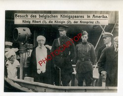 Visite Du ROI Des BELGES En AMERIQUE-Königspaar In Amerika-Politique-Grosse PHOTO Allemande-N.V.E. - Personnages