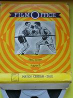 Film Office- Match CERDAN Contre ZALE- Super 8 - N & BL - 35mm -16mm - 9,5+8+S8mm Film Rolls