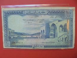 LIBAN 100 LIVRES 1964-88 CIRCULER - Liban