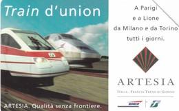 SCHEDA TELEFONICA  ARTESIA TRAIN D' UNION  SCADENZA 31/12/1998 USATA - Italia