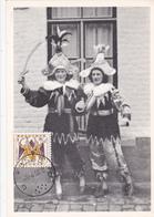 CM LES CHINELS - Groupe Folklorique De Fosse - Carnaval De Fosses-la-Ville - Timbre N° 1039 - 1958 - Cartes-maximum (CM)