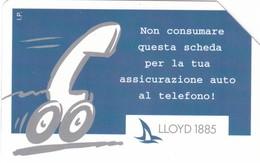 SCHEDA TELEFONICA  LLOYD ASSICURAZIONI  SCADENZA 31/12/1998 USATA - Italia